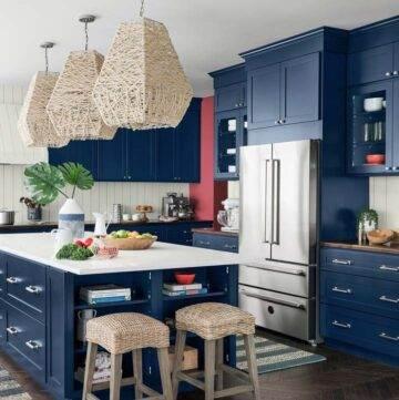 Newport Dream Home coastal kitchen