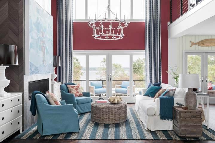 Newport Dream Home coastal living room