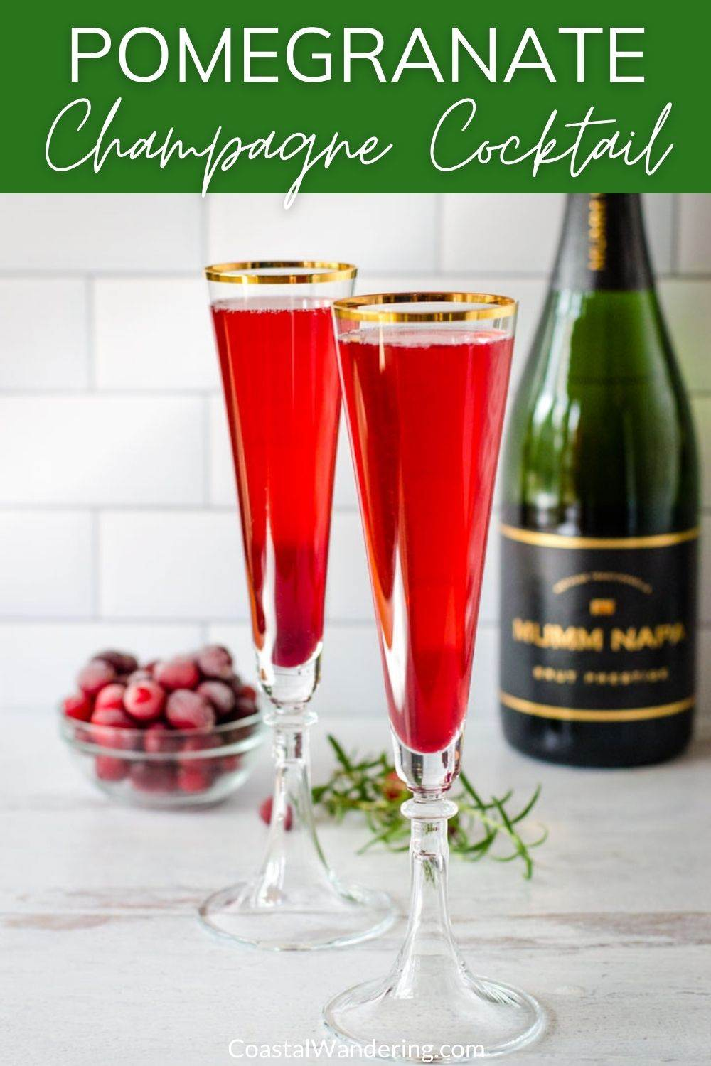 Pomegranate Mimosa Champagne Cocktail