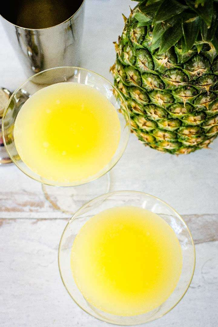 Pineapple vodka martini