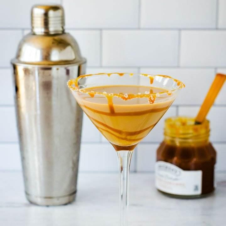 Salted caramel martini