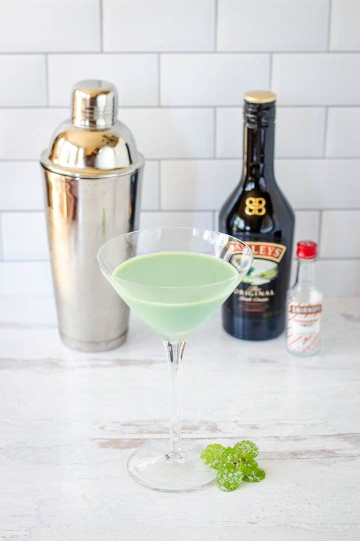 Shamrock Martini with Baileys and Vodka