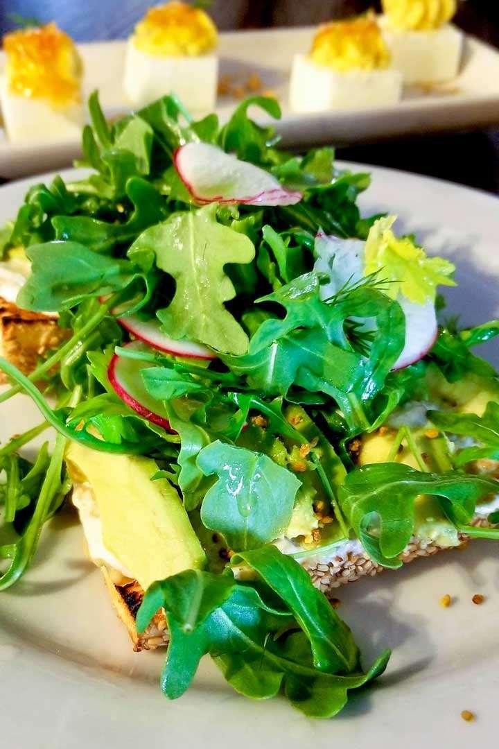 Avocado toast and deviled eggs at Nectar