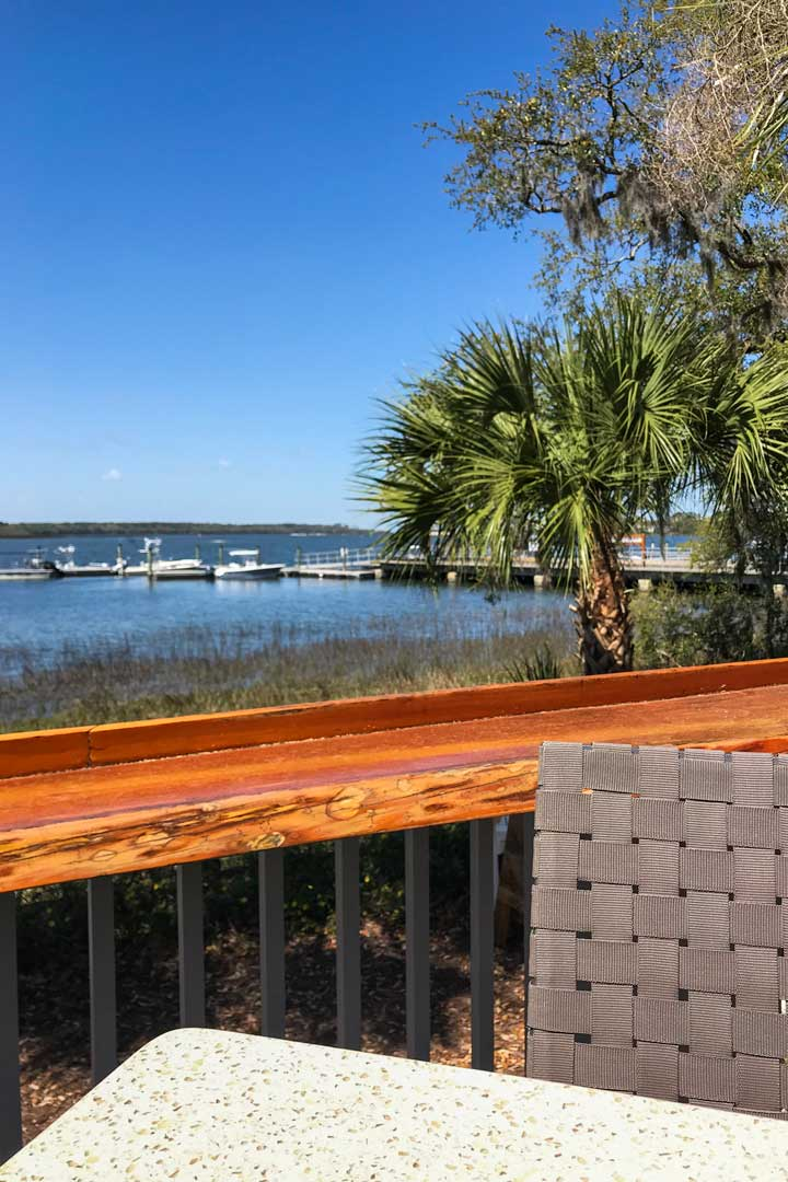View from the deck at Skull Creek Dockside