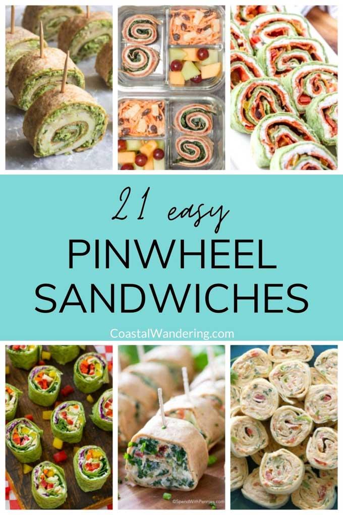 21 easy pinwheel sandwiches