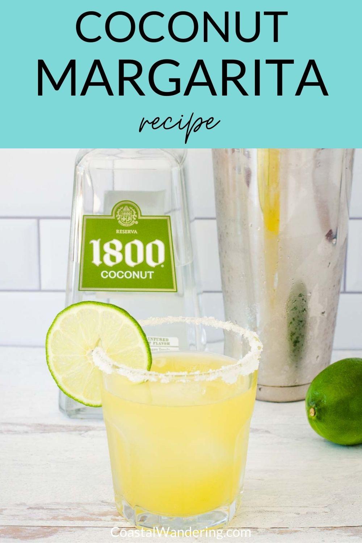 Coconut margarita recipe with 1800 coconut tequila