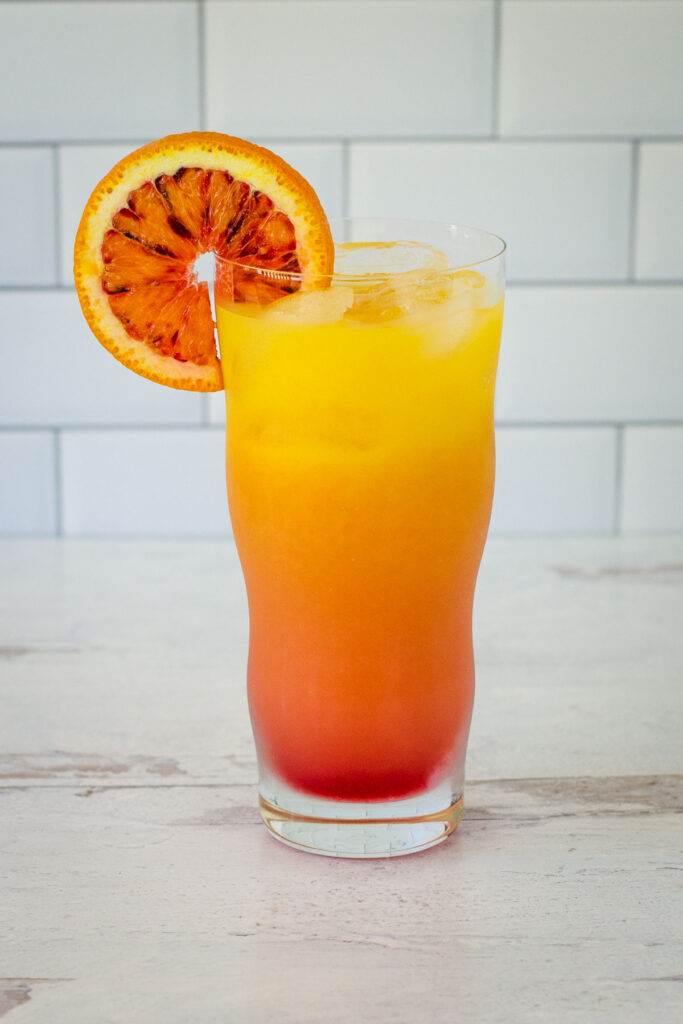 Vodka sunrise cocktail