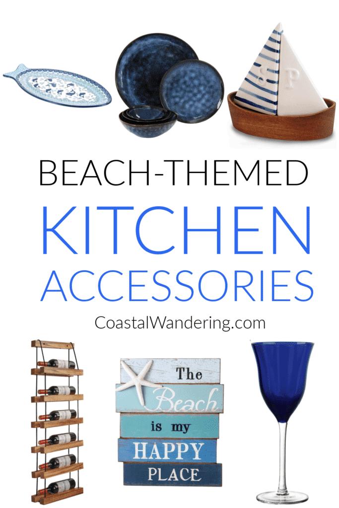 Beach themed kitchen accessories