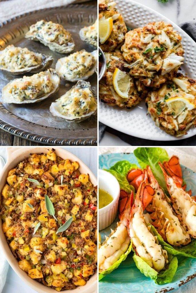 Thanksgiving seafood recipes with crab, lobster, oysters