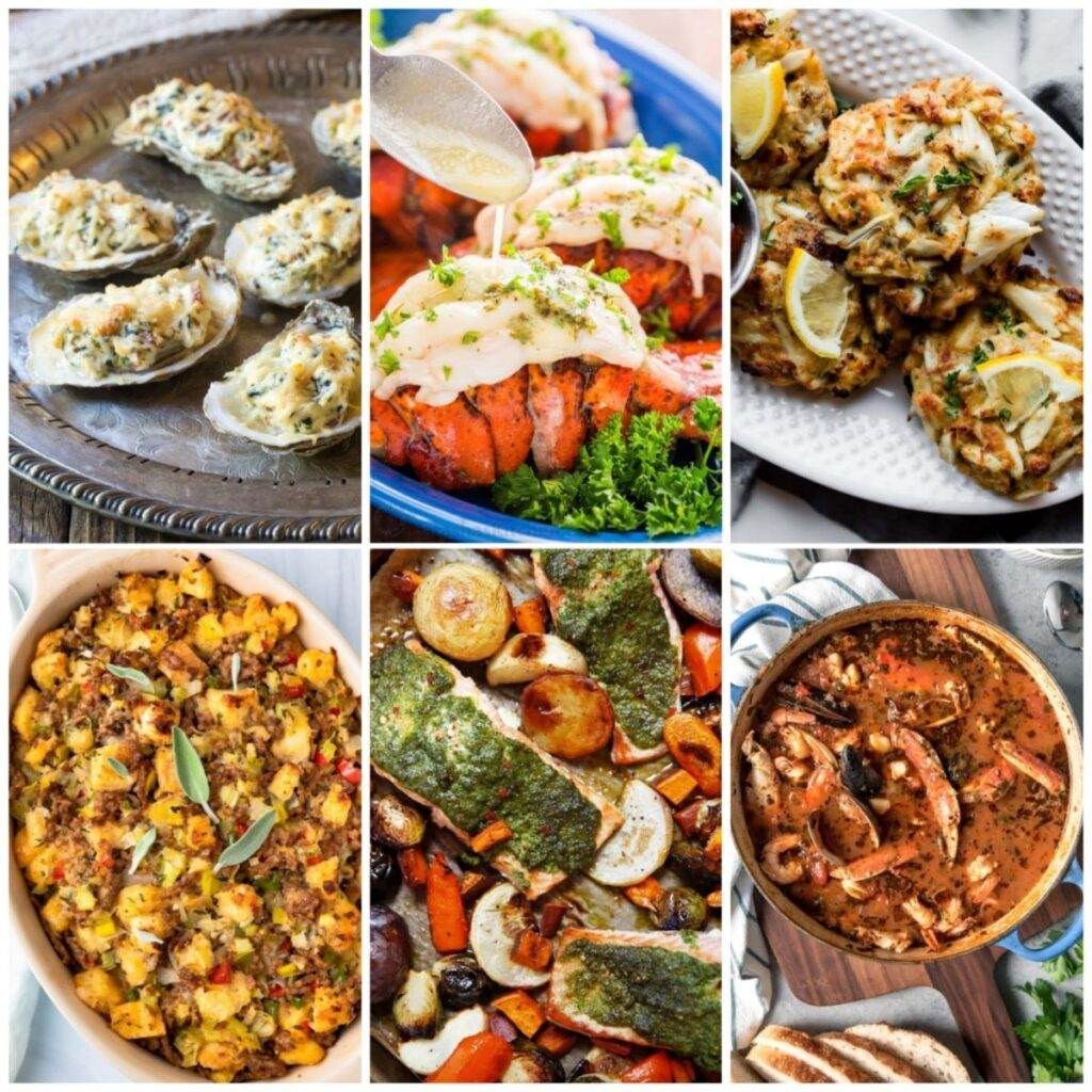 Thanksgiving recipes with crab, salmon, oysters, shrimp