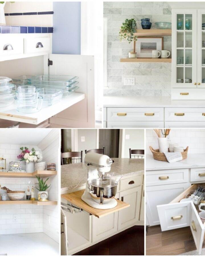 Kitchen corner storage and organization ideas